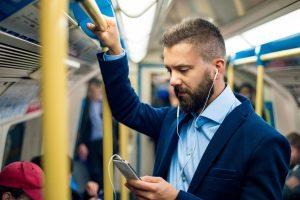 Man Smartphone Tube